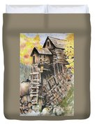Old Mill In The Rockies Duvet Cover