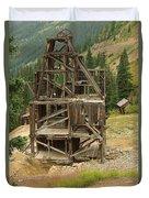 Old Mining Equipment Duvet Cover
