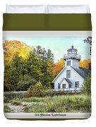 Old Mission Lighthouse Duvet Cover