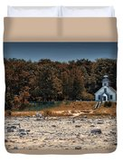 Old Mission Point Light House 01 Duvet Cover