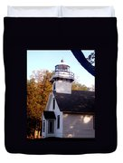 Old Mission Point Light House Duvet Cover