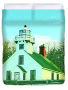 Old Mission Point Lighthouse Duvet Cover