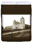 Old Mission Santa Barbara, Cal Circa 1895 Duvet Cover