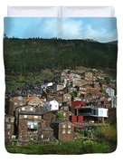 Old Moutain Village In Portugal Duvet Cover
