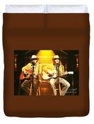 Old Neil And Young Neil Together Duvet Cover