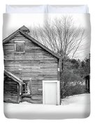 Old New England Barns In Winter Duvet Cover