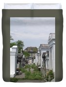 Old New Orleans Cemetery - The Big House  Duvet Cover