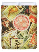 Old New Zealand Stamps Duvet Cover