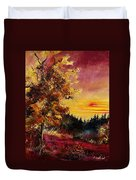 Old Oak At Sunset Duvet Cover