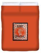 Old Orange Halfpenny Stamp  Duvet Cover