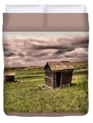 Old Outhouses Duvet Cover