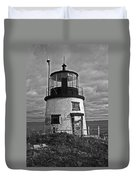 Old Owls Head Lighthouse Duvet Cover