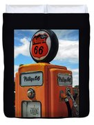 Old Phillips 66 Gas Pump Duvet Cover