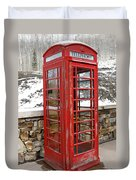 Old Phone Booth Duvet Cover