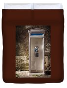 Old Phonebooth Duvet Cover by Carlos Caetano