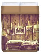 Old Photo Archive Duvet Cover