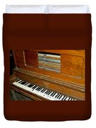 Old Piano Duvet Cover