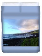 Old Pier At Honuapo Bay Duvet Cover
