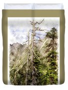 Old Pines Cascades Wc Duvet Cover