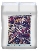 Old Plane And Other Toys Duvet Cover