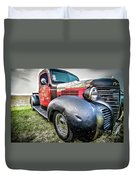 Old Plymouth Truck Duvet Cover