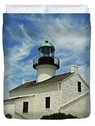 Old Point Loma Lighthouse Duvet Cover