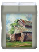 Old Pole Barn Duvet Cover