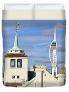 Old Portsmouth's Towers Duvet Cover