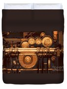 Old Printing Press Duvet Cover