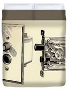 Old Push Button Light Switch Duvet Cover