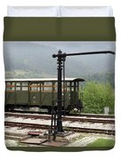 Old Railway Station With Wooden Wagon Duvet Cover