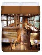 Old Railway Wagon Interior Vintage Duvet Cover