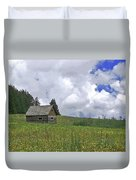 Old Ranchers Summer Cabin Redone Duvet Cover