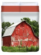 Old Red Barn Johnson County Ia Duvet Cover