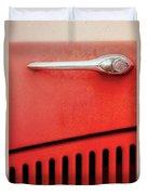 Old Red Car Duvet Cover