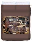 Old Red Dodge Truck Duvet Cover