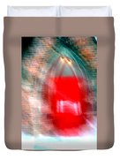 Old Red Door Abstract Duvet Cover