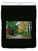 Old Red House Duvet Cover