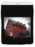 Old Red House In Shelburne Falls Duvet Cover