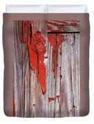 Old Red Paint Duvet Cover