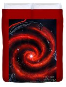 Old Red Spiral Galaxy Duvet Cover