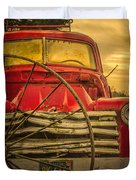 Old Red Truck Duvet Cover