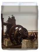 Old Rice Well Pump Duvet Cover