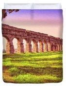 Old Roman Aqueduct Duvet Cover
