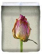 Old Rose On Paper Duvet Cover