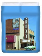 Old Roxy Theater In Muskogee, Oklahoma Duvet Cover