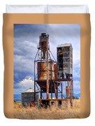 Old Rusted Grain Silo - Utah Duvet Cover