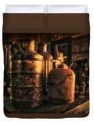 Old Rustic Cans Duvet Cover