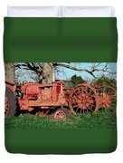 Old Rusty Tractors Duvet Cover
