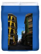 Old San Juan Puerto Rico Downtown On The Corner Duvet Cover